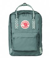 Fjallraven Kanken 13 inch frost green chess pattern (664-904)
