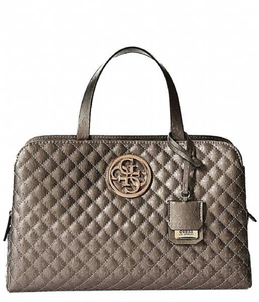 Gioia Girlfriend Satchel pewter Guess   The Little Green Bag