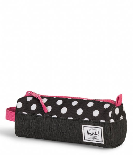 Settlement Case black crosshatch polka dot (02205) Herschel Supply Co. | The Little Green Bag